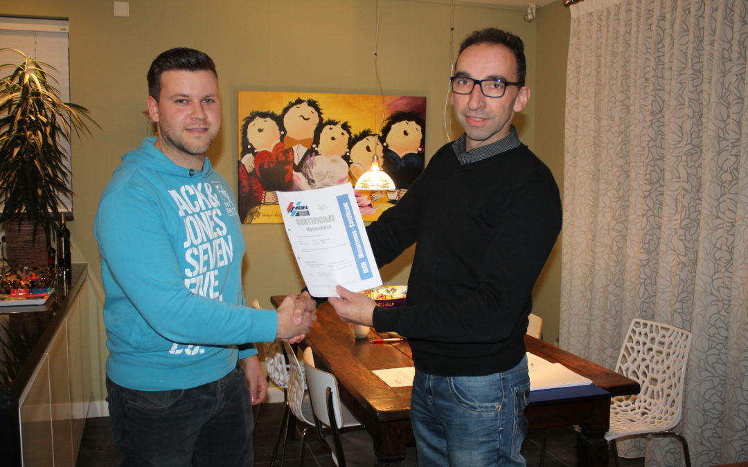 Behalen motorcross certificaat