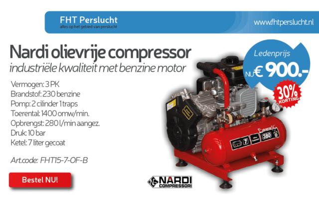 Benzine compressor van FHT perslucht (commercieel bericht van sponsor)