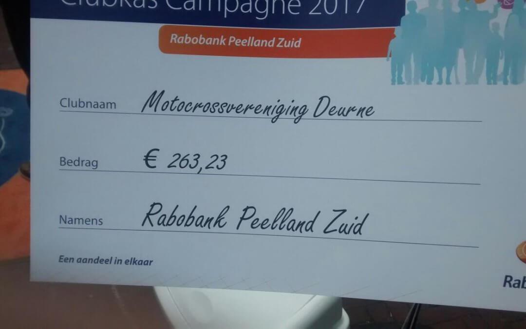 Rabobank clubkas actie 2017 opvolging