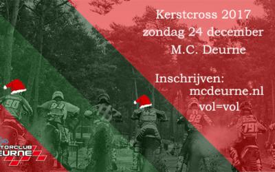 CMS / v.d. Laar open beker Kerstcross M.C. Deurne zondag 24 december 2017 te Deurne