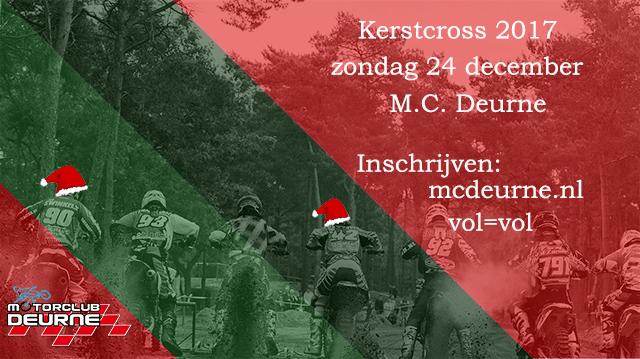 CMS / v.d. Laar open clubwedstrijd  / beker Kerstcross M.C. Deurne zondag 24 december 2017 te Deurne